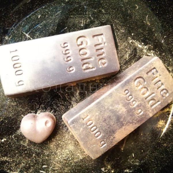 Шоколад ручной работы Золотой слиток