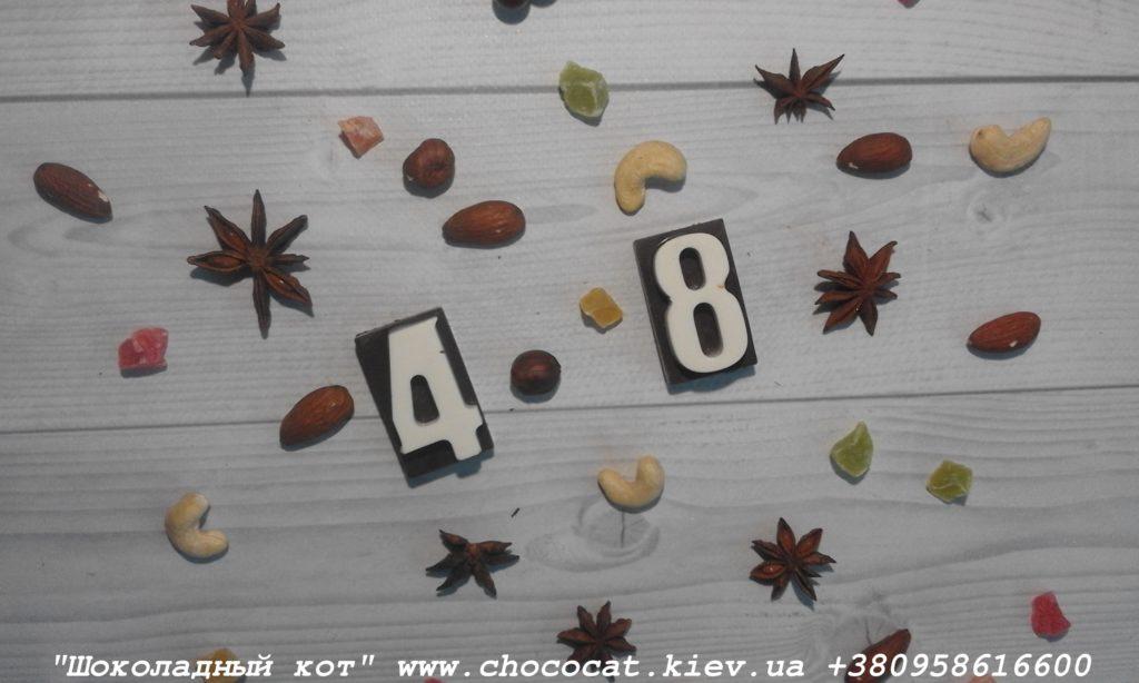 Шоколад ручной работы. Шоколадные цифры