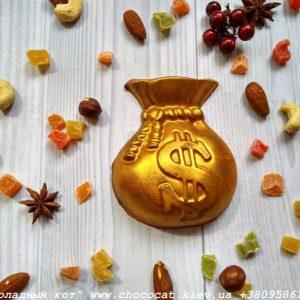 Фигурка из шоколада мешок долларов
