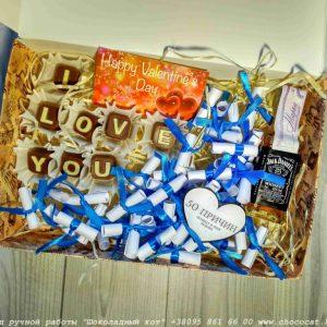 Шоколадные английские буквы купить Украина