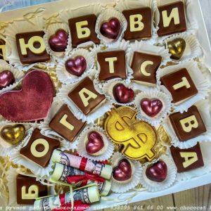 Конфеты с буквами на день рождения