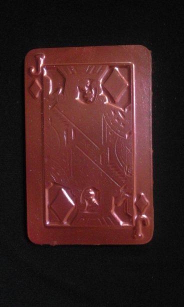 Шоколад ручной работы. Шоколадная игральная карта